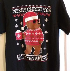 """Merry Christmas Ya Filthy Animal"" Riot Society T-"
